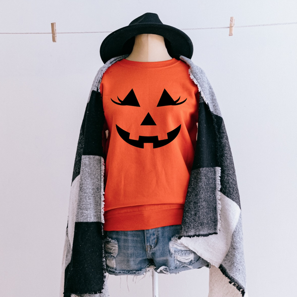 Pumpkin Face Graphic Pullover