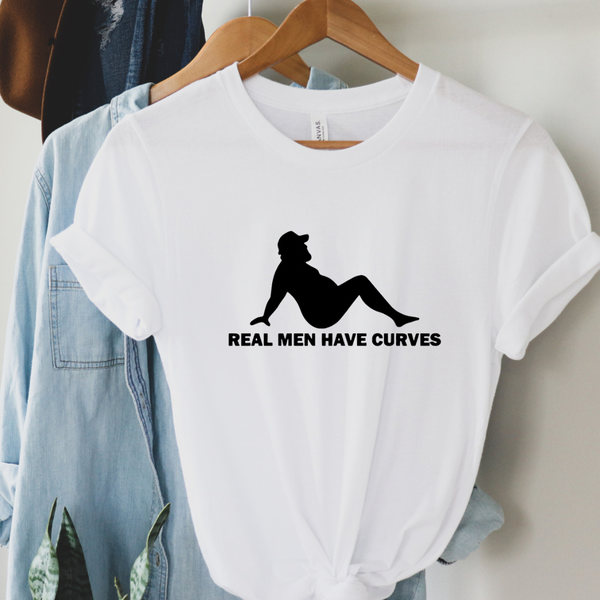Real Men Have Curves Graphic Tee