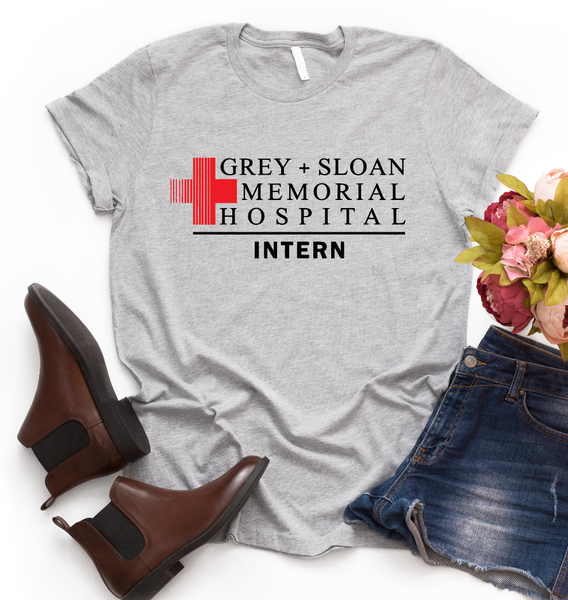 Grey+Sloan Memorial Hospital Intern Graphic Tee