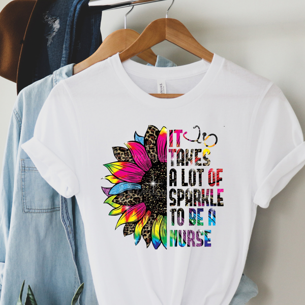 It Takes Lots of Sparkle To Be A Nurse Graphic Tee