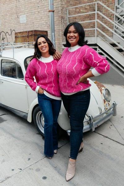 Pop Culture Zig Zag Sweater