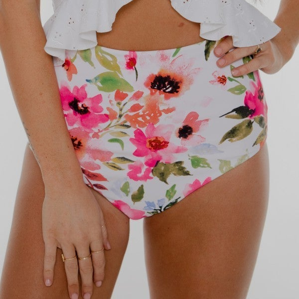 LEISURE - Pink Floral Ultra High Rise Reversible Bottom