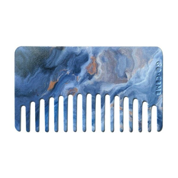 Sky Blue Agate Go-Comb | Plastic Wallet-Sized Comb