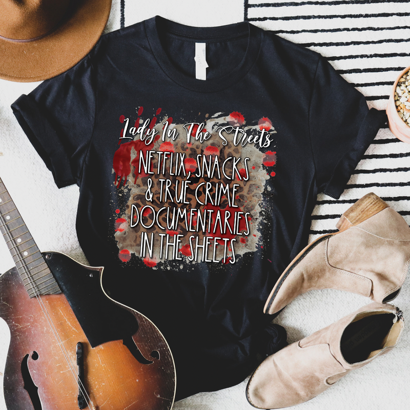 True Crime in the Sheets Graphic Tee