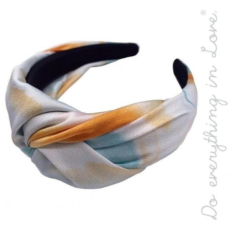 Tie Dye Twist Headband