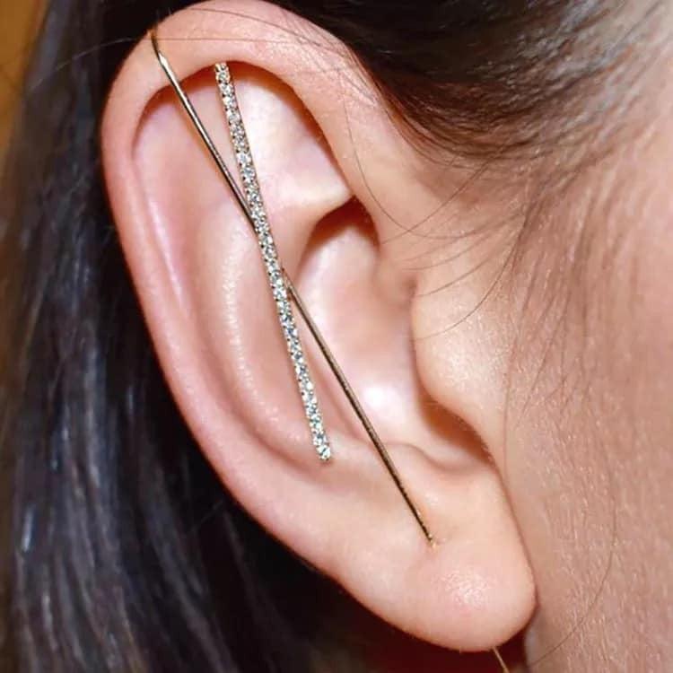 Gold Plated Crawler Hook Earrings   *Pre-Order*