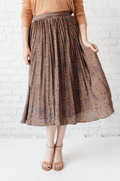 Cathedral Pleated Skirt