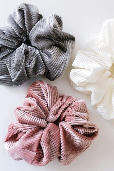 Ribbed & Velvet Scrunchie Set