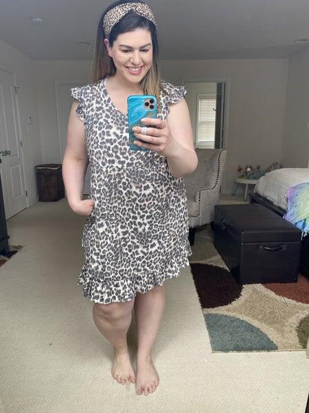 That Girl Cheetah Ruffle Dress