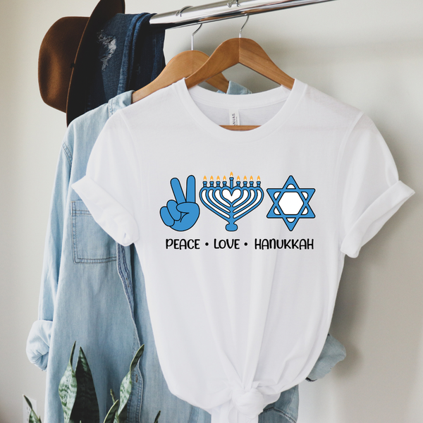 Peace Love Hanukkah Graphic Tee