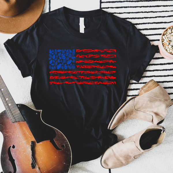 Weapons Flag Graphic Tees