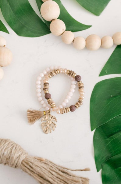 Tropics & Jade Stone Bracelet Set