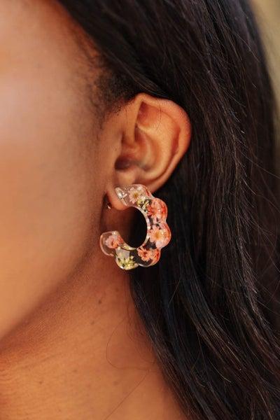 Flower Scalloped Earrings