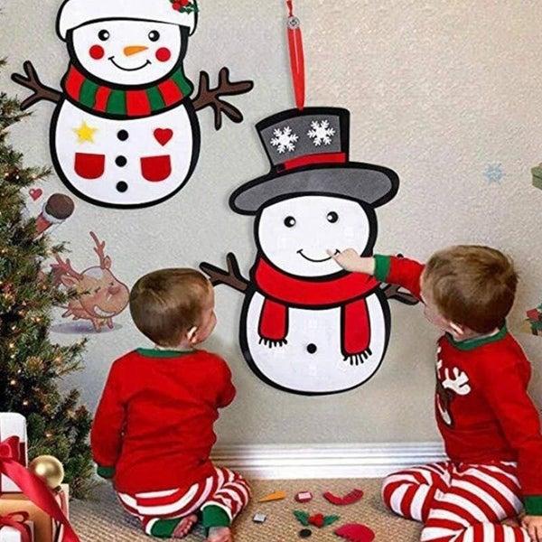 DIY Felt Snowman Set