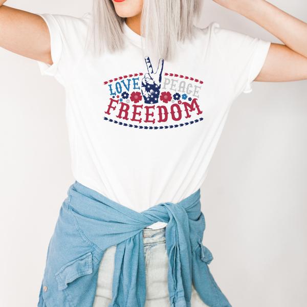 Peace Love Freedom Graphic Tee