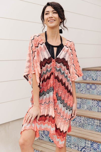 Under Cover Swim Cover-up In Coral