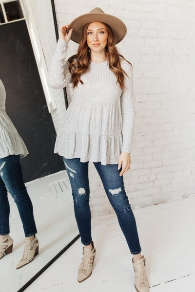 Give A Twirl Sweater in Gray