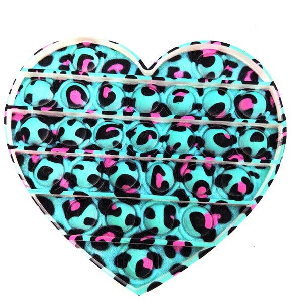 Leopard Heart Pop It