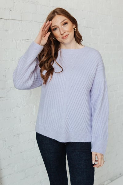 La-La Lux Sweater in Lavender