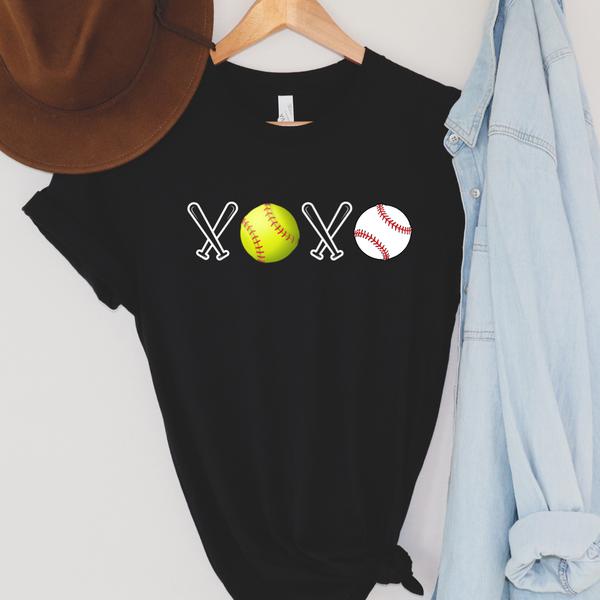 XOXO Softball Baseball Graphic Tee