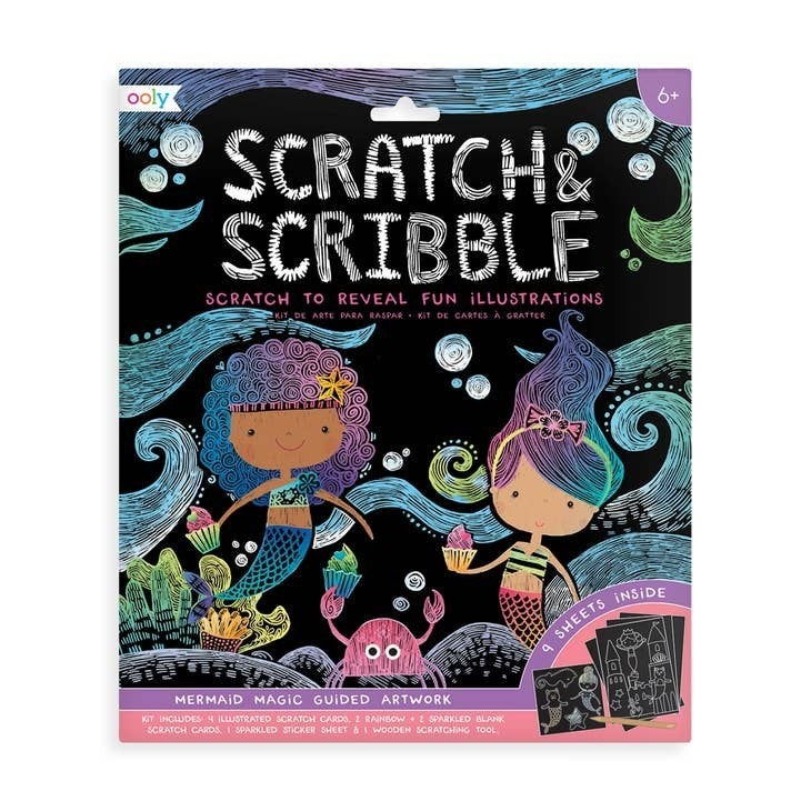 Scratch and Scribble Art Kit - 10 Piece Set