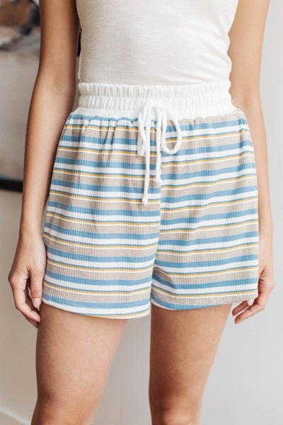 Emery Striped Shorts in Blue