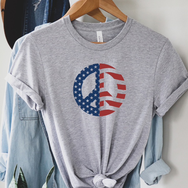 Flag Peace Sign Graphic Tee