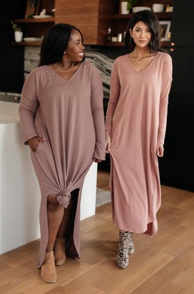 The Melanie Maxi Dress in Mauve