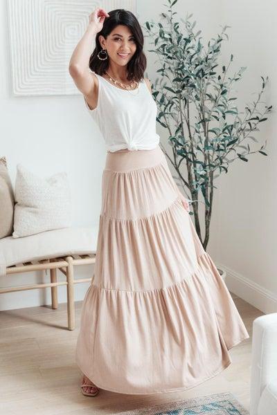 Roam The World Skirt in Taupe