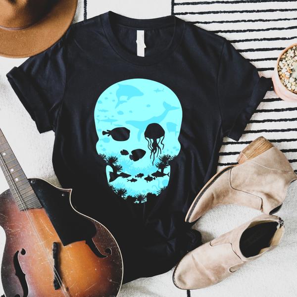 Water Skull Graphic Tee