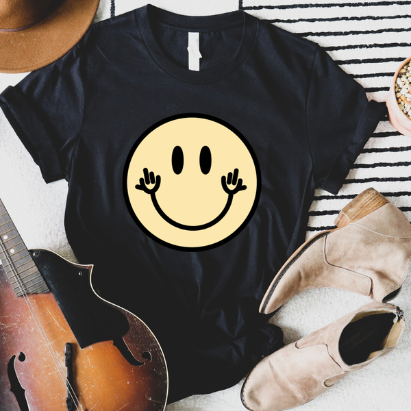 Snarky Smiley Face Graphic Tee