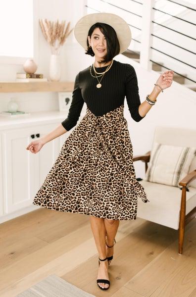 Shelby Animal Print Dress