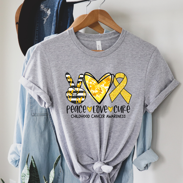 Peace Love Cure Graphic Tee