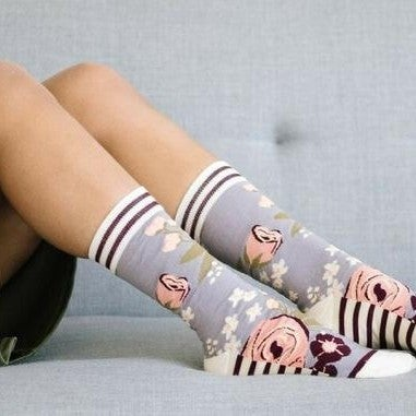 Briar Rose Crew Socks by Woven Pear