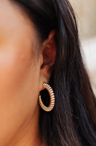 Glimpse of Heaven Coil Hoops