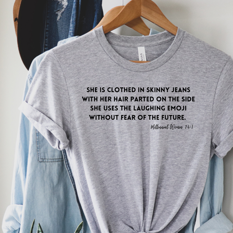 Skinny Jeans Verse Graphic Tee