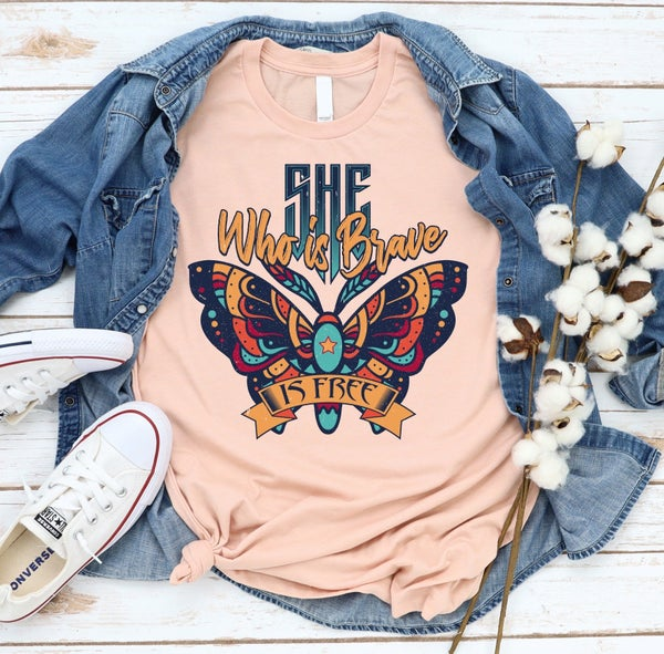 She Who Is Brave Is Free Graphic Tee