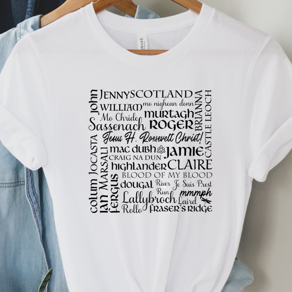 Outlander Names Graphic Tee