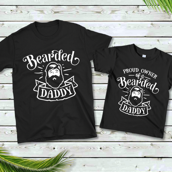 Bearded Dad Daddy & Me Graphic Tee