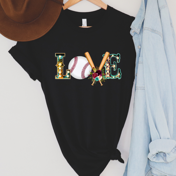Love Baseball Graphic Tee Version 2