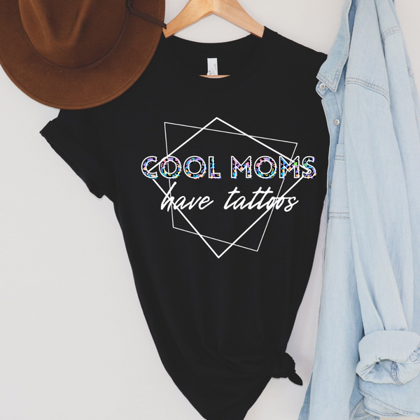 Leopard Cool Moms Have Tattoos Graphic Tee