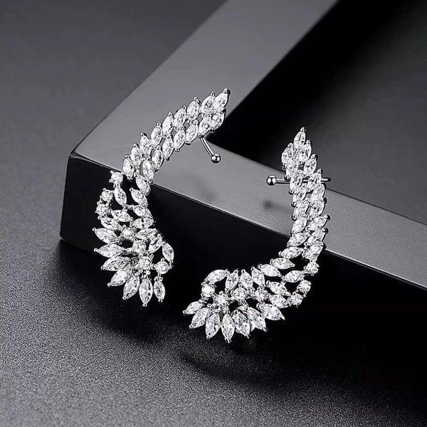 Angel Wings Crawler Earrings