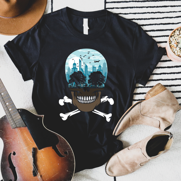 City Skull Graphic Tee