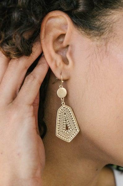 Geo Dangle Hook Earrings