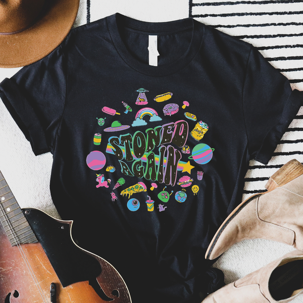Stoned Again Rock N Roll Graphic Tee
