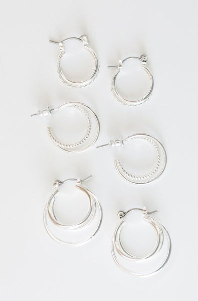 Tons Of Hoops Earring Set