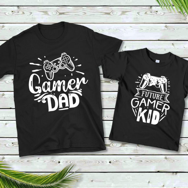 Gamer Daddy & Me Graphic Tee