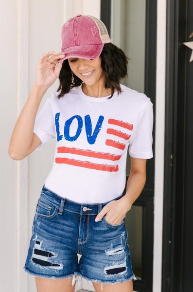 Love For The Flag Graphic Tee