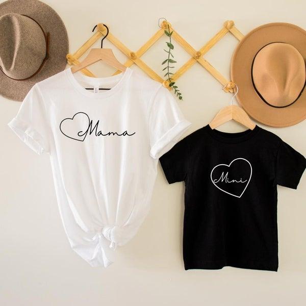 Mama / Mini Heart Graphic Tee