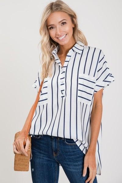 Classic Stripe Blouse
